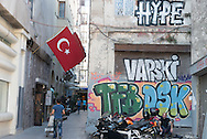 Turkey. Istanbul. tunel area in Beyoglu / Itamboul, le quartier du tunel