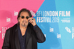 Al Pacino during a photocall for The Irishman as part of the BFI London Film Festival 2019 held at The May Fair Hotel , London.