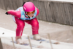 February 7, 2019 - Ljubno, Savinjska, Slovenia - Kamila Karpiel of Poland competes on qualification day of the FIS Ski Jumping World Cup Ladies Ljubno on February 7, 2019 in Ljubno, Slovenia. (Credit Image: © Rok Rakun/Pacific Press via ZUMA Wire)