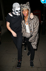 Professor Green and Rizzle Kicks attend 'Death Of A Geisha' halloween party hosted by Fran Cutler and Cafe KaiZen in London, UK. 31/10/2014<br />