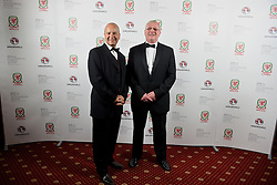 CARDIFF, WALES - Monday, October 5, 2015: Chief-Executive Jonathan Ford and FAW President David Griffiths during the FAW Awards Dinner at Cardiff City Hall. (Pic by Pete Thomas/Propaganda)