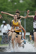 Hamilton, Ontario ---05/06/08--- Lauren Doherty of Galt in Cambridge competes in the steeplechase at the 2008 OFSAA Track and Field meet in Hamilton, Ontario..GEOFF ROBINS