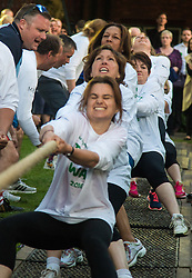 Westminster, London, June 6th 2016. Female MPs pull against the McMillans wonen's team as teams from uk industry as well as the House of Commons and the House of Lords compete in the annual McMillan Cancer Charity tug o' war.