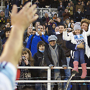 Man of the match Felipe Contepomi, Argentina, waves to his family after the Argentina V France test match at Estadio Jose Amalfitani, Buenos Aires,  Argentina. 26th June 2010. Photo Tim Clayton..