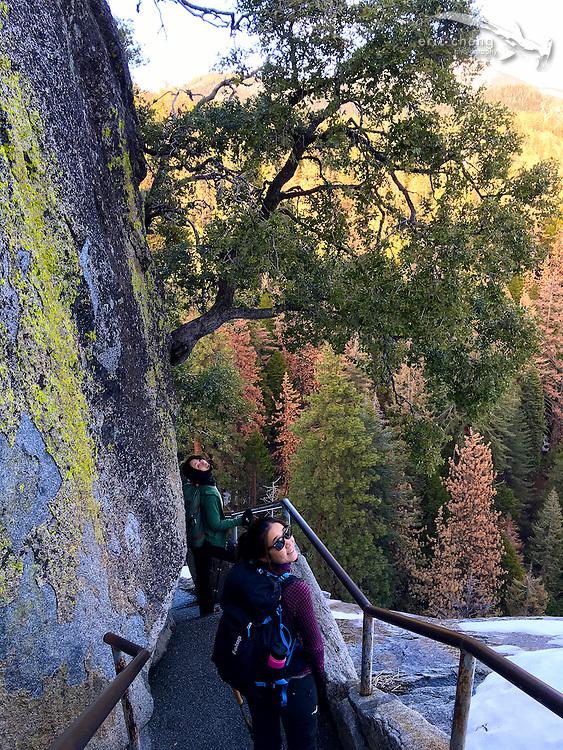 The path up Moro Rock. Sequoia National Park, California. w/Nana Trongratanawong and Kozy Kitchens
