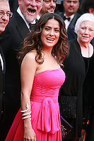 Salma Hayek-Pinault at the Saint-laurent gala screening red carpet at the 67th Cannes Film Festival France. Saturday 17th May 2014 in Cannes Film Festival, France.