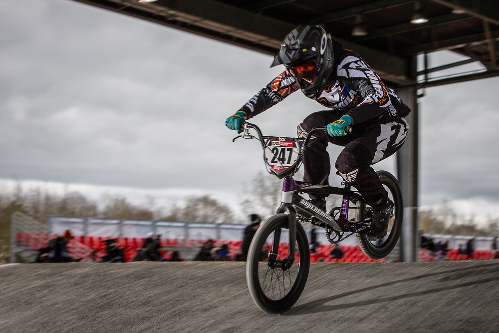 #247 (JONES Sara) AUS at the 2018 UCI BMX Superscross World Cup in Saint-Quentin-En-Yvelines, France.