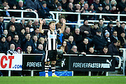 Newcastle United midfielder Matt Ritchie (#11) protests following a foul during the EFL Sky Bet Championship match between Newcastle United and Derby County at St. James's Park, Newcastle, England on 4 February 2017. Photo by Craig Doyle.