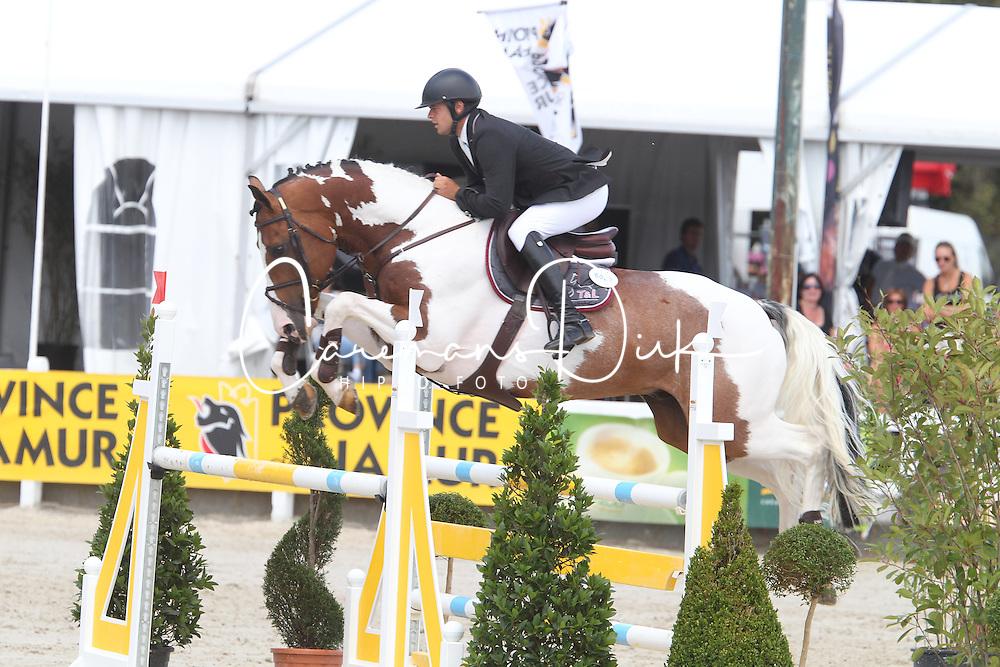 Vernaet Frederic (BEL) - Best Man Z<br /> Belgisch kampioenschap jonge springpaarden Gesves 2012<br /> &copy; Hippo Foto - Counet Julien