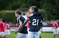 Dundee&rsquo;s Craig Wighton is congratulated after scoring by Roarie Deacon - Brechin City v Dundee pre-season friendly at Glebe Park, Brechin, Photo: David Young<br /> <br />  - &copy; David Young - www.davidyoungphoto.co.uk - email: davidyoungphoto@gmail.com