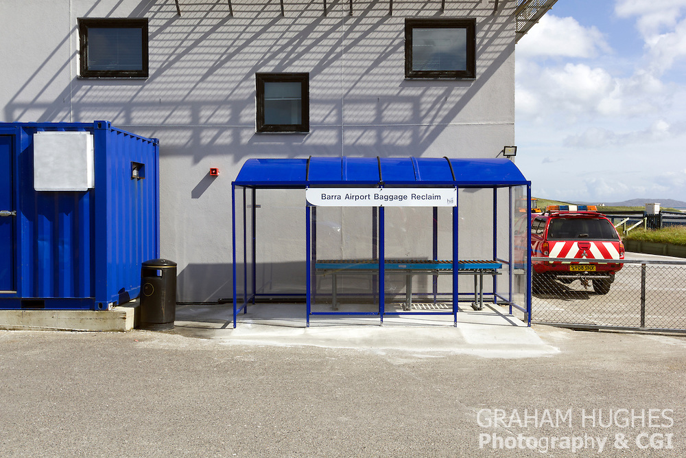 Isle Of Barra, Scotland,  Airport, Baggage Collection