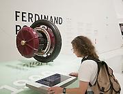 An early Ferdinand Porsche design -- an electric motor built into the wheel.