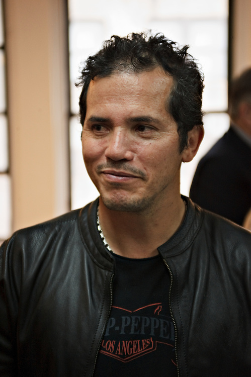 "Actor John Leguizamo during meet-and-greet session before first rehearsal of 2008 Broadway revival of David Mamet's play ""American Buffalo""; Leguizamo starred with Cedric the Entertainer and Haley Joel Osment; the show ran for a week at the Belasco, closing on November 23, 2008."