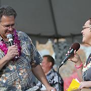 Live Aloha Hawaiian Cultural Festival 2012. Festival Director Angela.