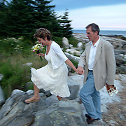 August 30, 2007 -- BOOTHBAY HARBOR, Maine.  Wedding Photos of Mike Boden and Michelle Yde Photo by Roger S. Duncan.