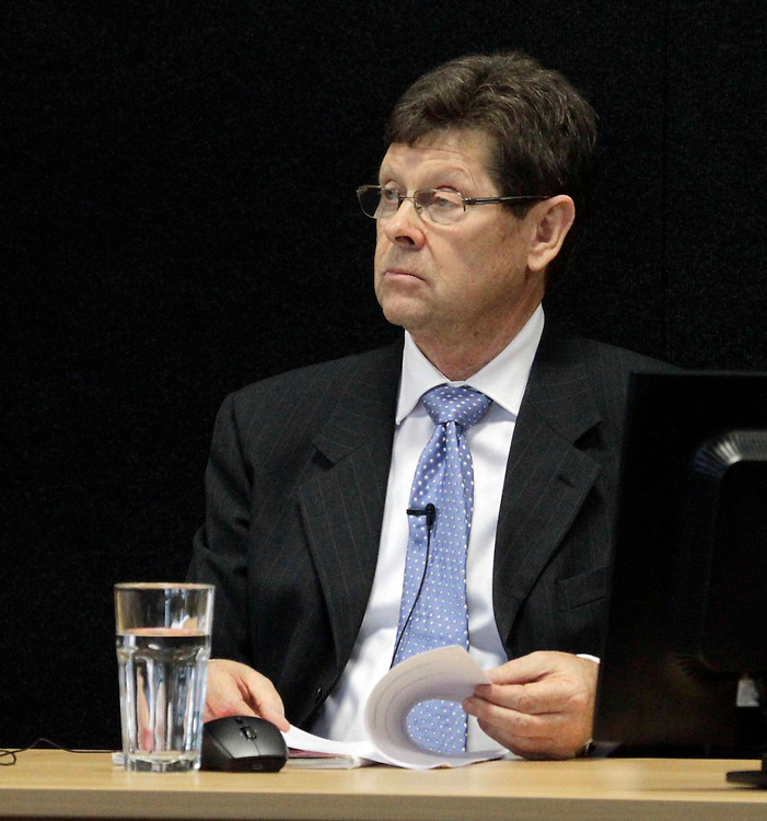 """Witness Dr Alan Reay at the Royal Earthquake Commission inquiry into the collapse of the CTV building, Christchurch, New Zealand, Friday, August 17, 2012. Credit:SNPA / The Press, David Hallett  """"POOL"""""""""""