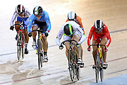 Hyejin Lee of Korea, Monique Sullivan of Canada, Laurine Van Riessen of Netherlands, Anna Meares of Australia and Tianshi Zhong of China compete in the Women's Keirin second round during the UCI Cycling World Cup at the Avantidrome, Cambridge, New Zealand, Sunday, December 06, 2015. Credit: Dianne Manson/CyclingNZ/UCI