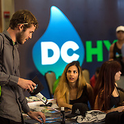 Washington, DC - AUG20: A young consumer with a joint behind his ear, checks out the DC Hydproponics booth at the B.U.D. Summit, the Business, Understanding, & Development Summit. The BUD Summit is poised to capture and accelerate the explosion of cannabis culture, business, and investment that has occurred in Washington, D.C. since the passing of initiative 71 in 2015. Photo by Evelyn Hockstein