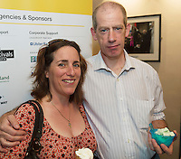 22/07/2015 repro free Lorna and Tony Gray from Renmore at the Ulster Bank sponsored evening at The Galway International Arts Festival's production of Frank McGuinnesses'  The Match Box, starring Cathy Belton At the Town Hall Theatre. Photo:Andrew Downes.