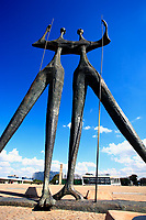 Monument to the builders also call the warriors of Brasilia city capital of Brazil UNESCO World Heritage site ion the square of three powers and was design by Bruno Giorgi