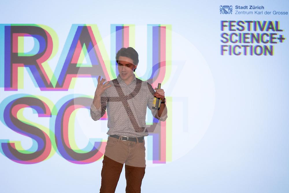 SCHWEIZ - ZÜRICH - David Bucheli, s+f; am science+fiction bei Karl: Rauschlabor - Drinks und Debatten, im Karl der Grosse - 22. März 2018 © Raphael Hünerfauth - http://huenerfauth.ch