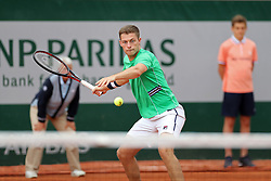 May 30, 2019 - Paris, France - Neal Skupski (GBR) in doubles action during the French Open Tennis at Stade Roland-Garros, Paris on Thursday 30th May 2019. (Credit Image: © Mi News/NurPhoto via ZUMA Press)