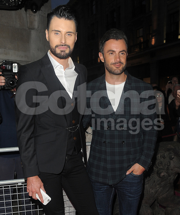 Rylan Clark and husband Dan Neal attend the Absolutely Fabulous: The Movie - world premiere afterparty at Liberty in London, UK. 29/06/2016<br />