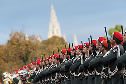 26.10.2016, Heldenplatz, Wien, AUT, Nationalfeiertag und Angelobung der neuen Rekruten. im Bild Feature Österreichisches Bundesheer // Feature Austrian Armed Forces during Austrian National Day at Heldenplatz in Vienna, Austria on 2016/10/26 EXPA Pictures © 2016, PhotoCredit: EXPA/ Michael Gruber