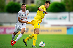 Branko Ilic of Domzale vs Leon Sever of Tabor during football match between NK Domzale and NK CB24 Tabor Sezana in 31st Round of Prva liga Telekom Slovenije 2019/20, on July 3, 2020 in Sports park, Domzale, Slovenia. Photo by Vid Ponikvar / Sportida