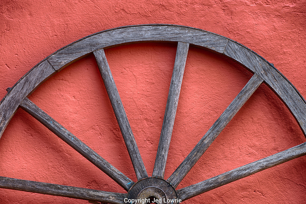 I particularly like the lines in this shot with the half moon of the upper portion of the wheel.  The terracota color makes for a nice background