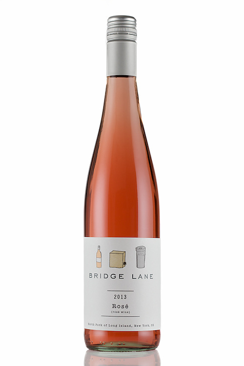 Showing off the color of this 2013 Rosé from Bridge Lane on the North Fork of Long island