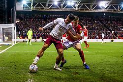 Jack Grealish of Aston Villa takes on Ryan Yates of Nottingham Forest - Mandatory by-line: Robbie Stephenson/JMP - 13/03/2019 - FOOTBALL - The City Ground - Nottingham, England - Nottingham Forest v Aston Villa - Sky Bet Championship