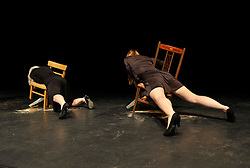 "© Licensed to London News Pictures. 14/02/2013. Bristol, UK. IBT13 International Festival of Performance.  Picture of ""A String Section"", performed by Reckless Sleepers, at the Arnolfini.  14 February 2013..Photo credit : Simon Chapman/LNP"