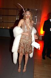OZLEM ONAL at Andy & Patti Wong's Chinese New Year party to celebrate the year of the Rooster held at the Great Eastern Hotel, Liverpool Street, London on 29th January 2005.  Guests were invited to dress in 1920's Shanghai fashion.<br />
