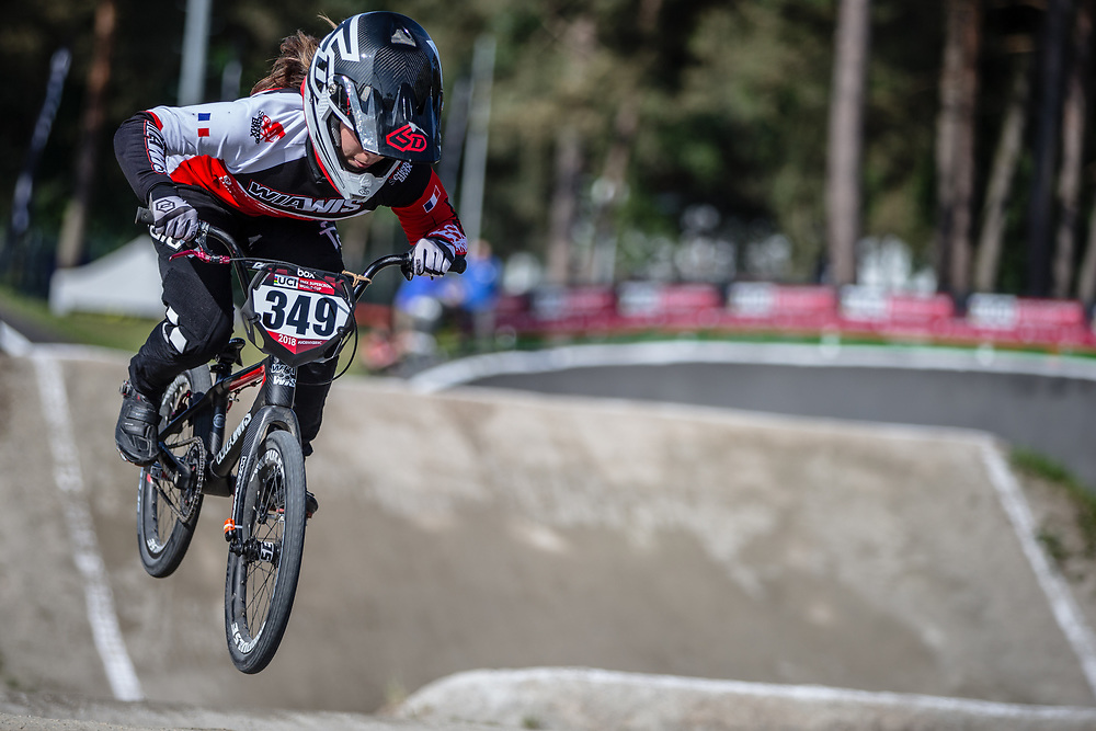 /w349/ during practice at Round 5 of the 2018 UCI BMX Superscross World Cup in Zolder, Belgium