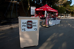 Nov 12, 2011; Stanford CA, USA;  General view of a vending stand selling programs before the game between the Stanford Cardinal and the Oregon Ducks at Stanford Stadium.  Oregon defeated Stanford 53-30. Mandatory Credit: Jason O. Watson-US PRESSWIRE