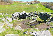 Fulacht fiadh water trough and fireplace building at Drombeg stone circle, County Cork, Ireland, Irish Republic