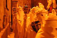 Enna (EN) 25/03/2005 - Easter in Sicily. Processione dei Misteri il Venerdì Santo.