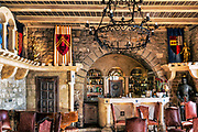 Luxury boutique hotel bar, Chateau Eza, Eze, Cote d'Azur, France