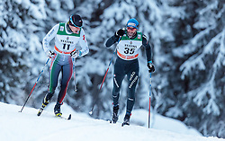 27.11.2016, Nordic Arena, Ruka, FIN, FIS Weltcup Langlauf, Nordic Opening, Kuusamo, Herren, im Bild Veselin Tsinzov (BUL), Curdin Perl (SUI) // Veselin Tsinzov of Bulgaria, Curdin Perl of Switzerland during the Mens FIS Cross Country World Cup of the Nordic Opening at the Nordic Arena in Ruka, Finland on 2016/11/27. EXPA Pictures © 2016, PhotoCredit: EXPA/ JFK