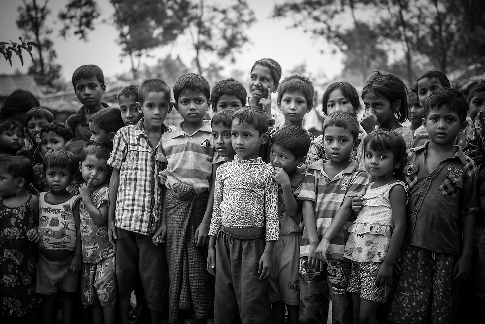 Rohingya children at Kutupalong refugee camp, Bangladesh (October 29, 2017)