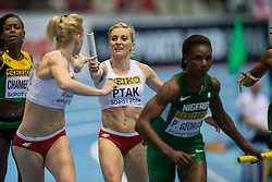 08.03.2014, Ergo Arena, Sopot, POL, IAAF, Leichtathletik Indoor WM, Sopot 2014, im Bild EWELINA PTAK 4X400 m // EWELINA PTAK 4X400 m during day two of IAAF World Indoor Championships Sopot 2014 at the Ergo Arena in Sopot, Poland on 2014/03/08. EXPA Pictures © 2014, PhotoCredit: EXPA/ Newspix/ Radoslaw Jozwiak<br /> <br /> *****ATTENTION - for AUT, SLO, CRO, SRB, BIH, MAZ, TUR, SUI, SWE only*****