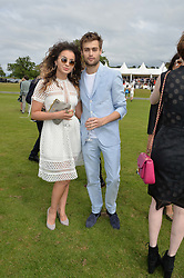 ELLA EYRE and DOUGLAS BOOTH at the Audi Polo Challenge at Coworth Park, Blacknest Road, Ascot, Berkshire on 31st May 2015.