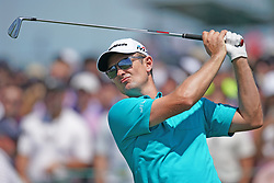 June 16, 2018 - Southampton, NY, USA - Justin Rose hits from the 1st tee during the third round of the 2018 U.S. Open at Shinnecock Hills Country Club in Southampton, N.Y., on Saturday, June 16, 2018. (Credit Image: © Brian Ciancio/TNS via ZUMA Wire)