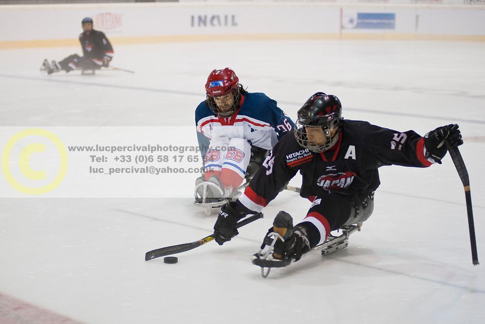 GBR v JPN during the 2013 World Para Ice Hockey Qualifiers for Sochi, Torino, Italy
