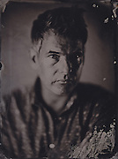 Bosie Vincent, filmmaker, tintype portrait made with wetplate collodion process.
