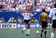 FIFA World Cup - USA 1994<br /> 10.7.1994, Giants Stadium, New York/New Jersey.<br /> World Cup Quarter Final, Bulgaria v Germany.<br /> Guido Buchwald - Germany