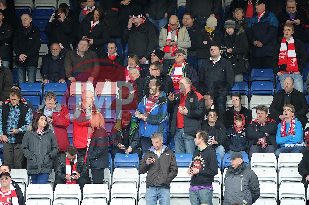 Bristol City Crowd - Photo mandatory by-line: Dougie Allward/JMP - Mobile: 07966 386802 - 03/04/2015 - SPORT - Football - Oldham - Boundary Park - Bristol City v Oldham Athletic - Sky Bet League One