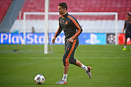 Cristiano Ronaldo of Real Madrid pictured during Real Madrid training at Estádio da Luz, Lisbon<br /> Picture by Ian Wadkins/Focus Images Ltd +44 7877 568959<br /> 23/05/2014