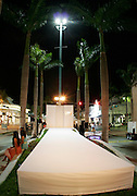 The  Lincoln Road runway for the Baby Phat / Phat Farm show opening Funkshion Fashion Week Wednesday, March 22, 2006 in Miami, Florida.